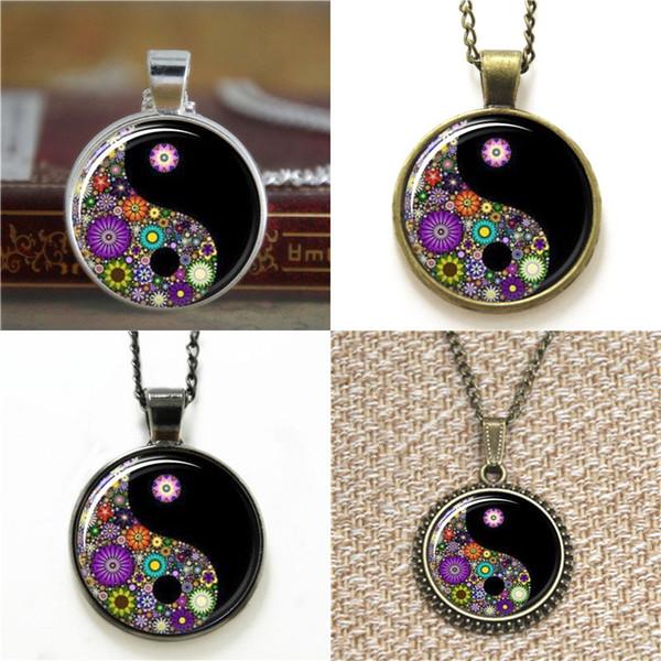 10pcs Ying Yang Black Jewelry Millefiori Jewelry Pendant glass Necklace keyring bookmark cufflink earring bracelet