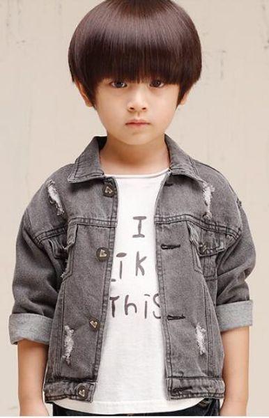 Veste de style de mode pour enfants en tissu denim W17JS049