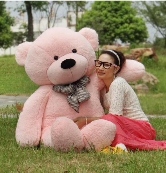 """New Style free shipping 6 FEET TEDDY BEAR STUFFED LIGHT BROWN GIANT JUMBO 71"""" size:180cm Valentine's day gifts"""