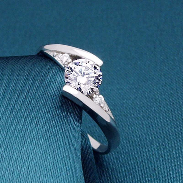 best selling crystal rings hip hop jewelry Swiss Diamond Rings For women fashion jewelry Finger Ring wedding ring drop ship