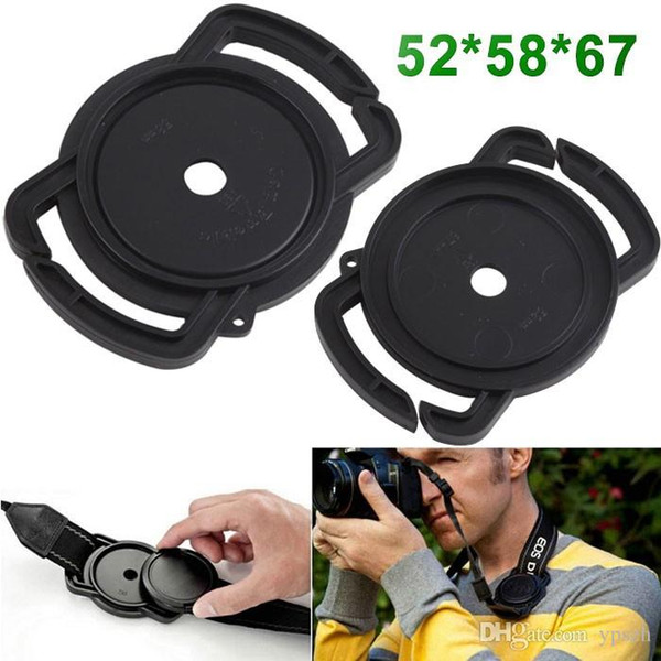 Wholesale-52mm 67mm 58mm Universal Anti-losing Camera Lens Cap Holder Keeper Buckle On Strap For Camera DSLR DC PA040