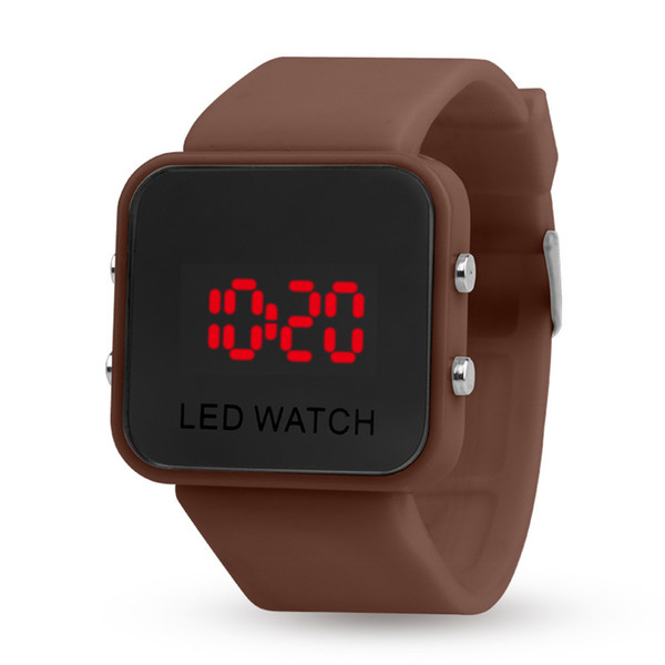 Wholesale LED display mirror leisure sports, second generation multi-function watches, plastic mirror watches, electronic watches