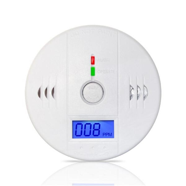 Detector de monóxido de carbono 70pcs / lot detector de monóxido de advertencia Sensor Detector Detectores de incendios de incendios Detector de LCD Inicio Alarmas de seguridad