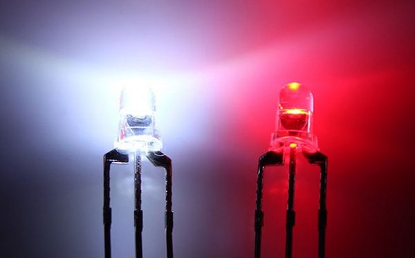 Through Hole Water Clear Bicolor Biocolor 3mm Red/White LED Diode Light Beads ROHS Common Anode/Cathode