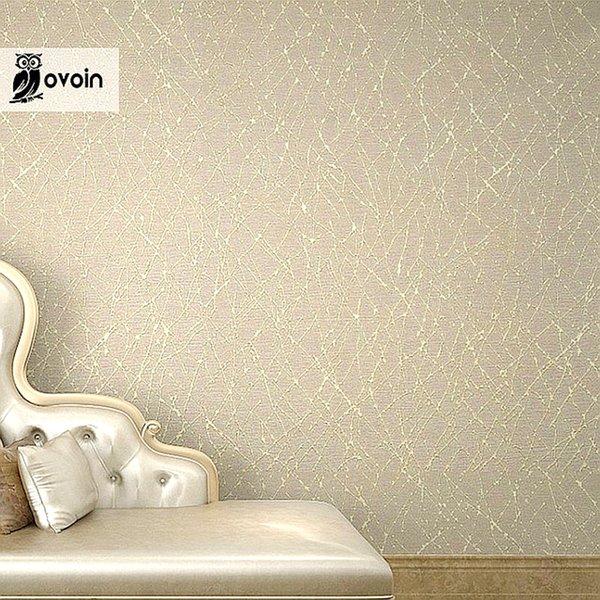 Großhandels-Neutrale einfache Normallack-moderne geometrische Streifen strukturierte Vinyltapete für Wände Goldzusammenfassungs-Niederlassungen metallisches Tapeten