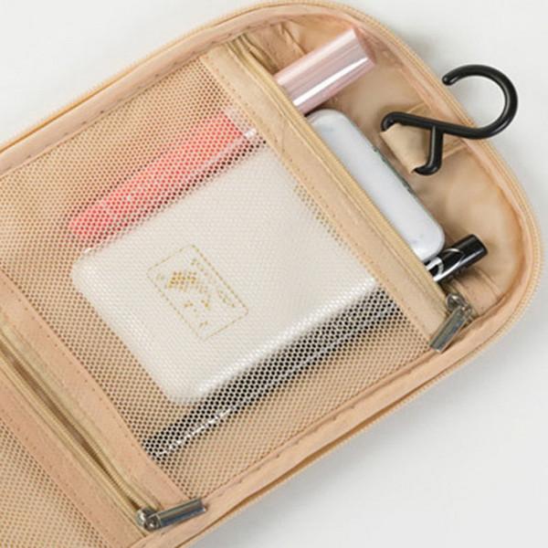 Wholesale- Portable Makeup Make up Toiletry Washing Cosmetic Bag Oxford Compartment Organizer Storage Hanging Travel Kit Hand bag Bulk