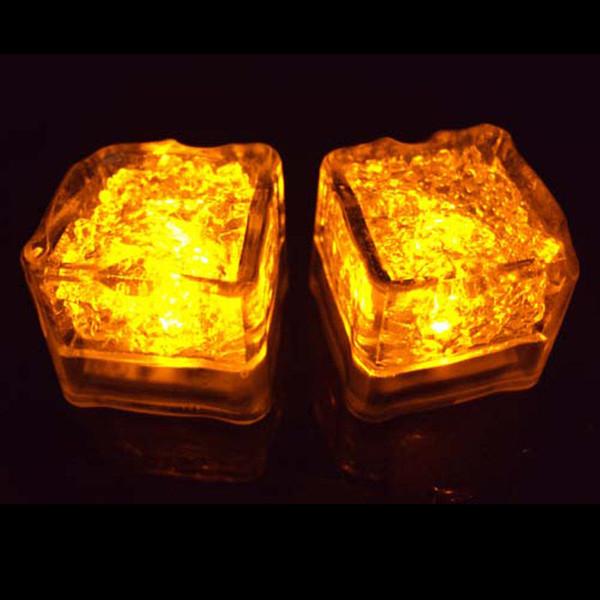 6 Cores-12 Pçs / lote LED À Prova D 'Água Cubos de Gelo Luz Para festas e acender mesas de casamento e centros de mesa com deslumbrante light up cubos