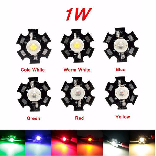 2017 Nouveau 6 Couleurs 1 W Haute Puissance LED Ampoule Lampe pour PCB-Grow Aquarium Spectre Complet