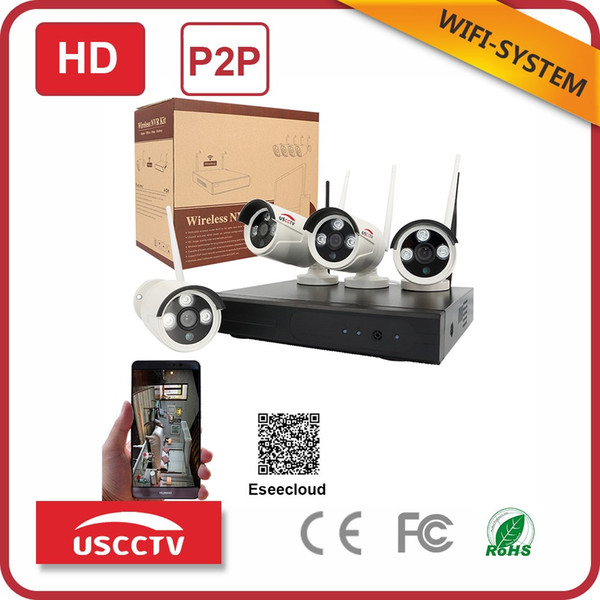2019 Manufacturer China 4ch Dvr Wifi Nvr Kit P2p Outdoor Waterproof 720p  Network Ip Camera Home Security Wireless Cctv System From Uscsecurity,