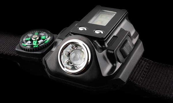 New Flashlight LED light wrist watch watch light aluminum flashlight outdoor sports Flashlight