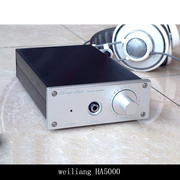 Freeshipping Newest Breeze Audio HA5000 Professional Pure Class A Headphone Amplifier Stereo Hifi Digital Earphone AMP Black/Sliver