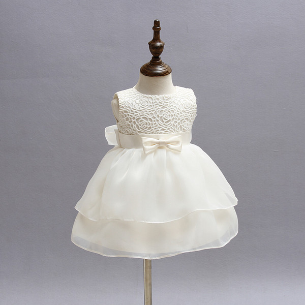 2018 Wholesale 1 2 Year Old Baby Girl Dress Vintage Little Princess