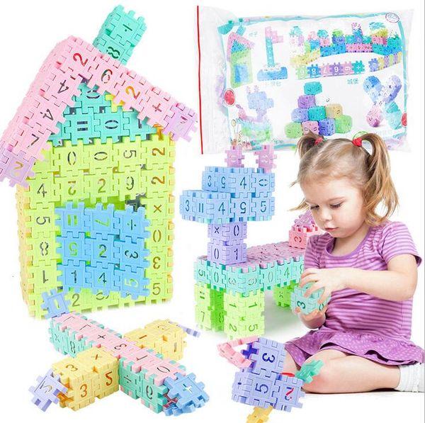 Diy Assembling Educational Number Building Block Pincha Building Blocks Toys Geometry Shape Cognition Number Building Block