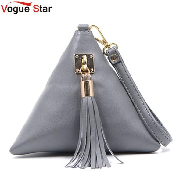 Al por mayor-Vogue Star Fashion Mini Embrague Embrague Bolso de Cuero Diseñador Monedero Famosa Marca Mujeres Fringe Bolso de Noche Bolso LS453