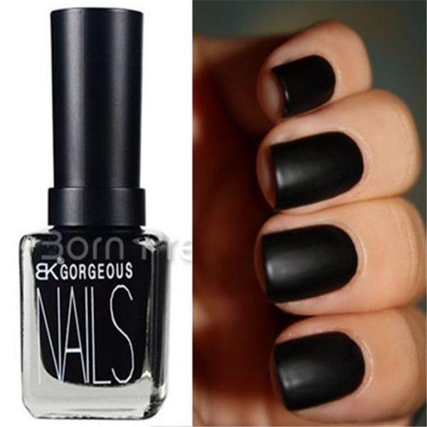 Wholesale 1 Bottle 15ml Matte Pure Black Color Dull Nail Polish Nail ...