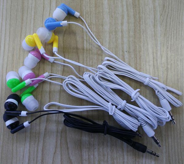 200 unids Caliente Más Barato disponible auriculares auriculares auriculares para autobús o tren o avión una vez uso Auriculares de bajo costo para la escuela, hotel, gimnasios