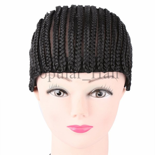 Cornrows Cap For Easier Sew In Braided Wig Caps Crotchet Caps for Making Wigs Glueless Hair Net Liner Crochet Wig Caps 10pcs/lot