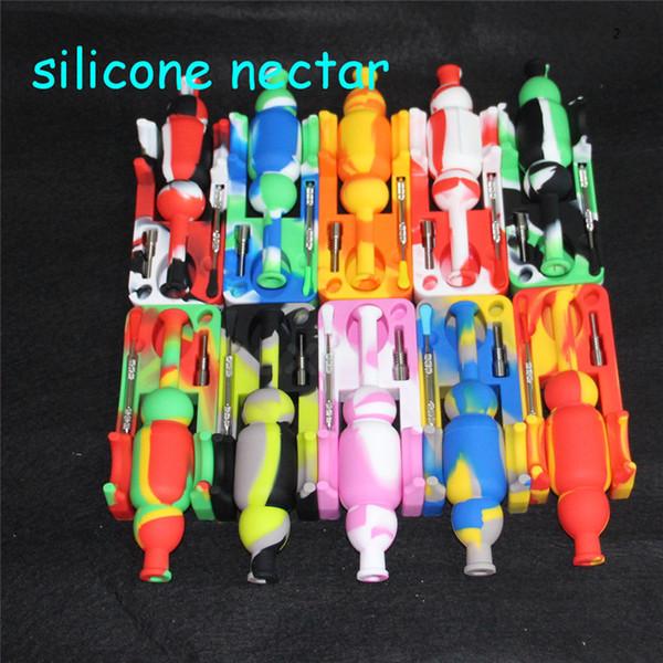 Sıcak satış silikon nektar toplayıcı kitleri dab aracı Sigara Cam Bongs Aksesuarları silikon kuleleri 5 ml silikon konteyner DHL