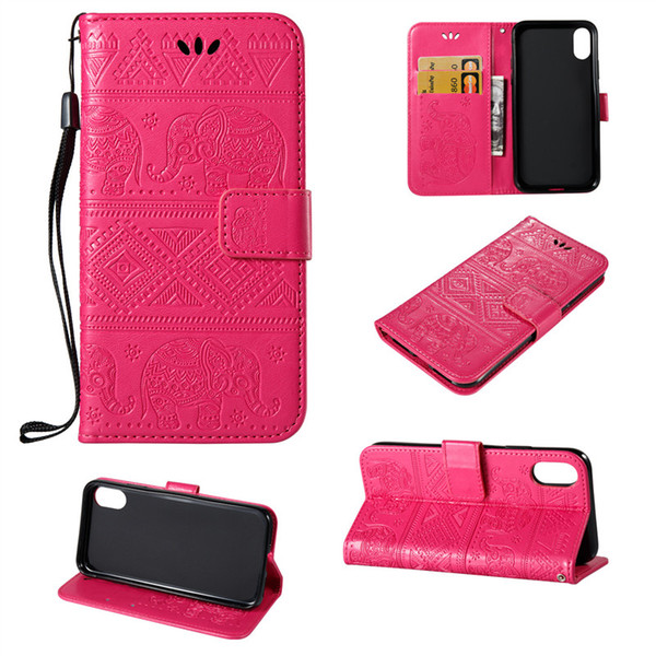 For Iphone X Iphone 5 6 7 8 Plus Case Advanced Luxury Wallet Case Flip Stand Cover Phone Cover Retail Package