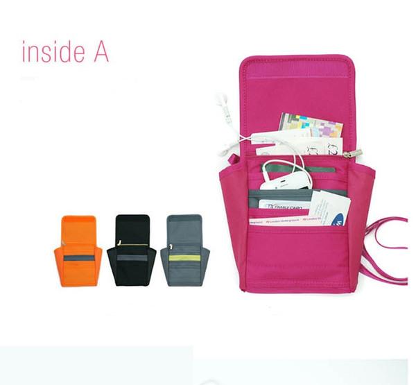 Malotes de viagem portátil bolsa de armazenamento à prova d 'água pacote de passaporte curto Pacote de cartão bolsa multi-funcional pacote