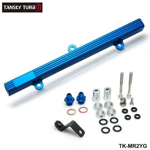 top popular TANSKY -NEW RAIL Performance Aluminum Injection Injector Fuel Rail Kit For Toyota MR2 3S-GTE Blue TK-MR2YG 2021