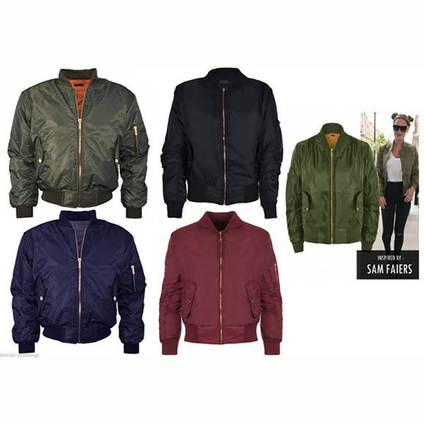 High Quality Ma1 Thin Style Army Green Military motorcycle Ma-1 Flight Jacket Pilot Air Force Women Bomber Jacket