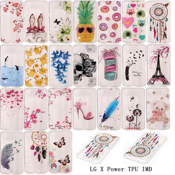 Flor de la piña TPU IMD Torre Eiffel de París Gel Funda para LG pantalla de X / alimentación / Huawei Y3 II / II Y5 Sony XA