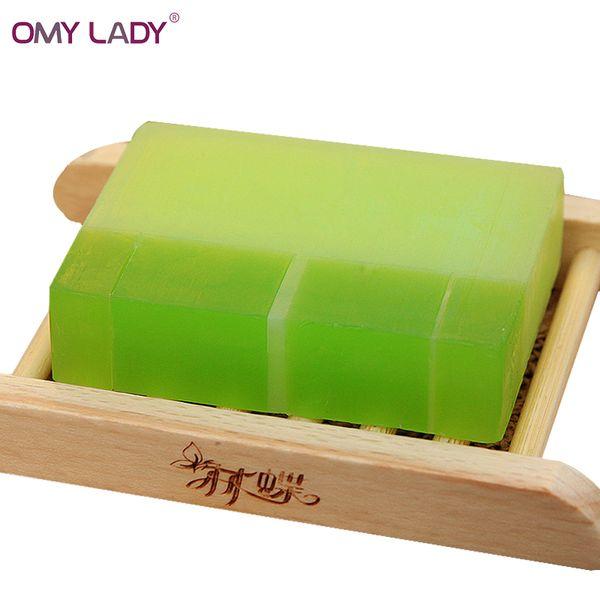 Pure Natural Herbal Plant Aloe Vera Gel Handmade Soap acne treatment oil-control Moisturizing Essential Oil Soap Free Shipping