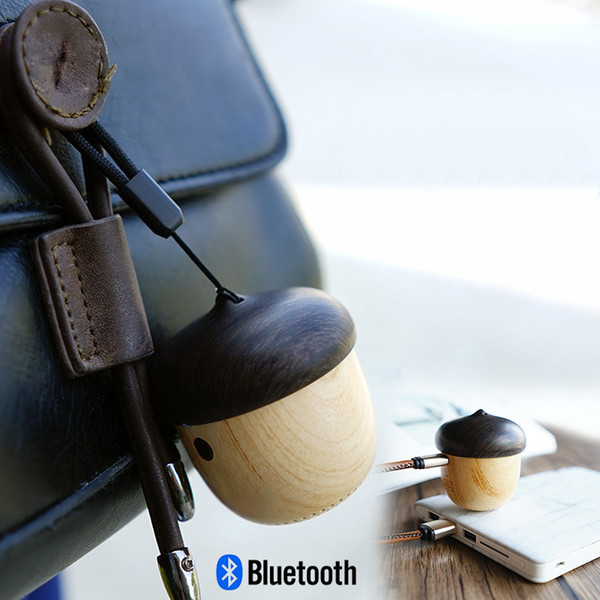 2017 Altoparlante a dado in legno bluetooth mini design unico con altoparlante incorporato in legno con microfono per iPhone con scatola al minuto