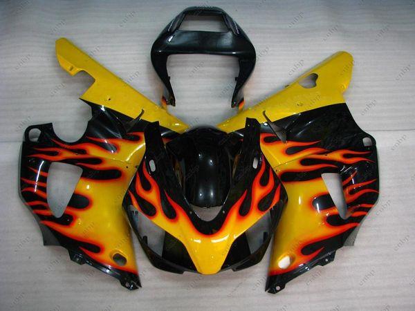Body Kits YZF R1 1999 Plastic Fairings YZF1000 R1 98 Black Yellow Flame ABS Fairing for YAMAHA YZFR1 1998 1998 - 1999