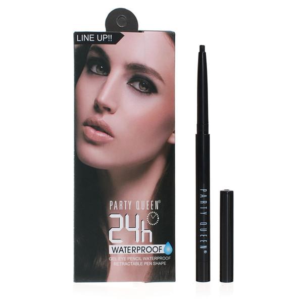 Party Queen Long Lasting Gel Eyeliner Waterproof Eye Liner Pen Free-cut Retractable Black Eyes Makeup Matic Pencil