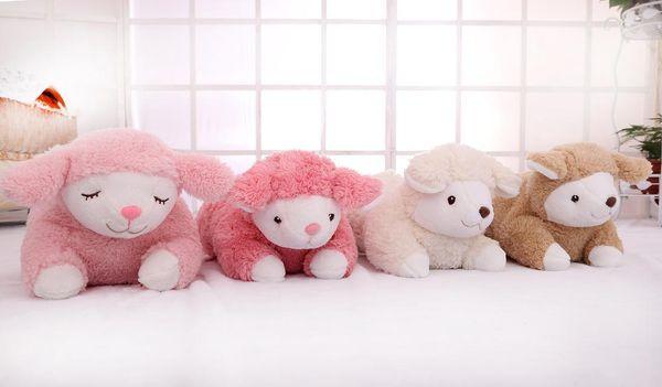 40*20cm 2Styles Cute Cartoon Sheep Plush Animal Toy Kawaii Sheep Shaped Tissue Box Case Napkin Paper Holder 3Colors