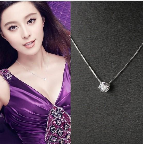 Lowest Price 925 Sterling Silver Box Chain Necklaces Jewelry TOP Quality AAA Zircon Diamond 925 Sterling Silver Chains Women Christmas Gifts