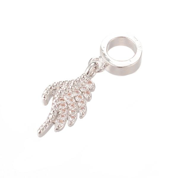 Pave Diamond Pendants 24 * 7.8mm CZ Mirco Pave Pendentif ICPS007 Set Pave Pierres Fit Bracelet Nickel Sans plomb