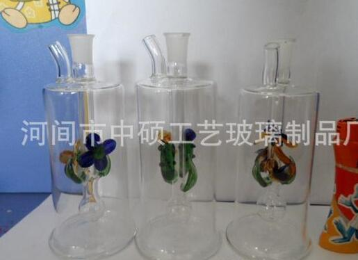 Spring colored glass hookah, a variety of patterns, patterns random delivery, wholesale glass hookah, glass bong, free shipping, large bette