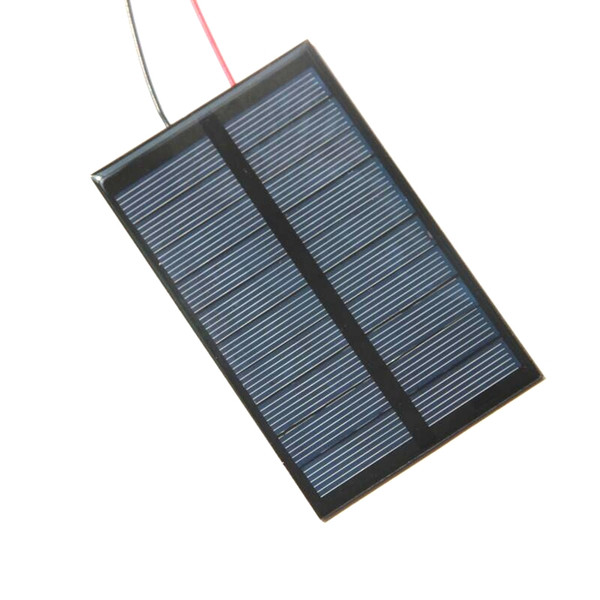 BUHESHUI 5V 1.2W Polycrystalline Solar Cell Module+Cable DIY Solar Panel Charger For 3.7V Battery Education Study110*69MM Epoxy