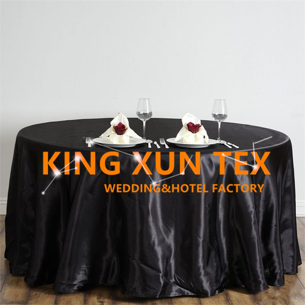 Hot Sale Satin Table Cloth Cheap Wedding Tablecloth For Event Party Decoration Free To Door Shipping Table Linens Wedding Table Covers For Sale From