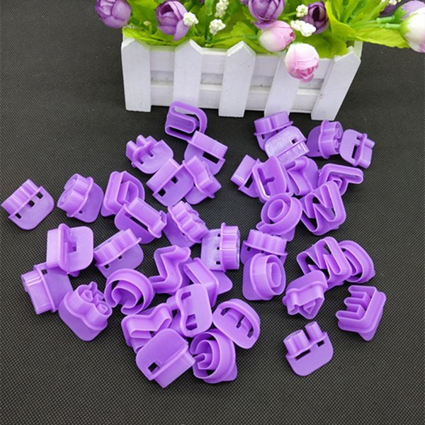 2017 New 40pcs Alphabet Number Letter Character Fondant Cake Decorating Set Icing Cutter Mold Moulds Cake Tools
