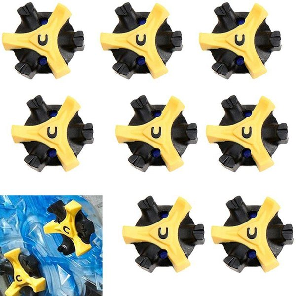 best selling Wholesale- 14Pcs Lot TPR Golf Shoe Spikes Replacement Champ Cleat Fast Twist Screw Studs Stinger Golf Training Accessories