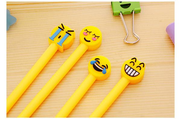 best selling NEW emoji gel pen for children cartoon gifts children expression pen creative office supplies stationery hot sale