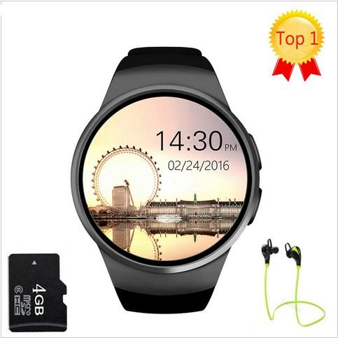 KW18 Bluetooth smart watch full screen Support SIM TF Card Smartwatch Phone Heart Rate for phone gear s2 huawei