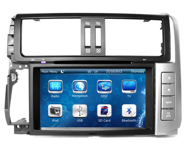 "8"" Head Unit Car DVD Player for Toyota Land Cruiser Prado 2010-2013 with GPS Navigation Radio BT USB SD AUX Audio Stereo"