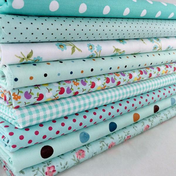 9Pcs Cotton Flower Polka Dots Pre Cut DIY Handmade Decor Charm Cloth Squares Quilt Household Patchwork Sewing Fabrics Textiles