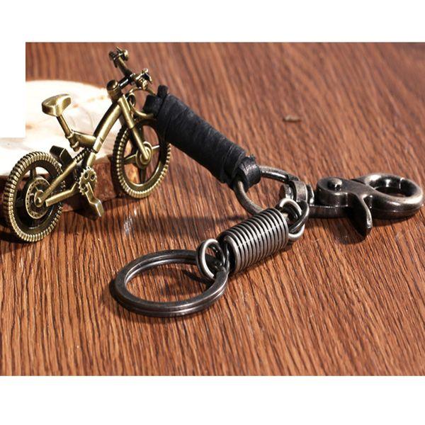 New Belt Clip Carabiner Leather Keychain Key Ring vintage metal bike key ring pendant