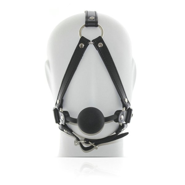 Free shipping PU Mask Harness With Rubber Ball Gag Harness new Bondage Sex Mask Sex Toys For Couple Sex Products CP-RC008