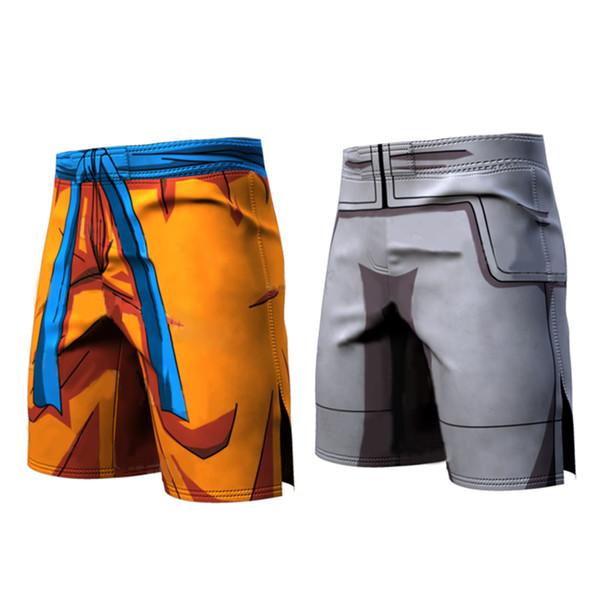 Bola Z Homens / Mulheres 3D Dragon Ball Z Calças Vegeta Goku Verão Estilo 3D calças