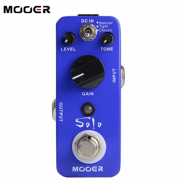 MOOER Solo High-gain Distortion Effects Pedal 3 Working Modes: Natural/Tight/Classic Guitar effect pedal