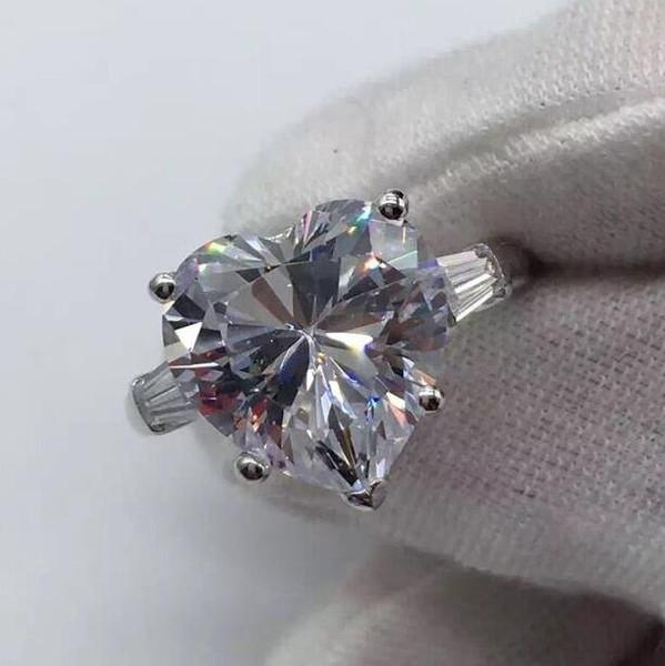 3 karat diamond ring in S925 Silver 14k White Gold Plated Wedding Ring engagement rings for women