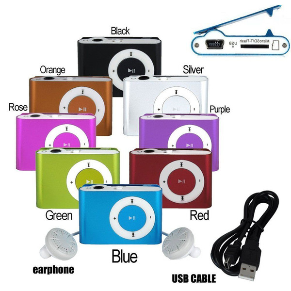 best selling HOT Christmas Gifts Sport Mini Portable Sport Clip mp3 Players Come with Earphone, USB Cable, Retail Box, Support Micro SD TF Cards