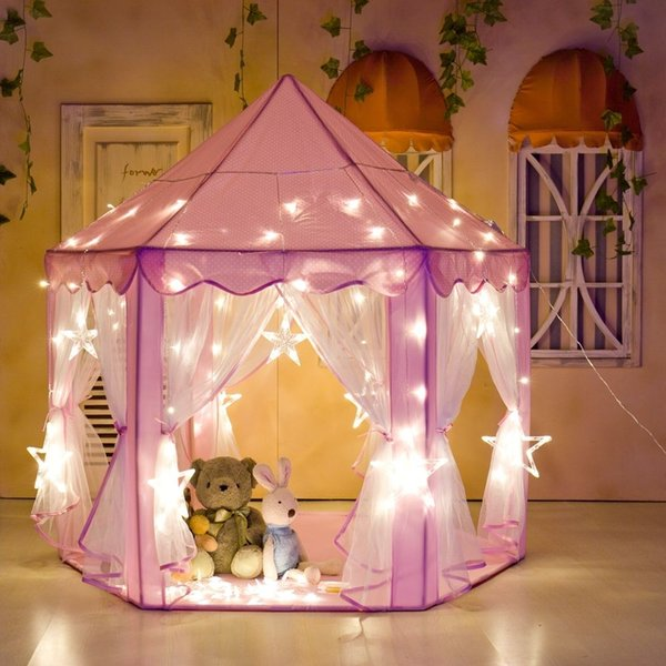"Princess Castle Play Tent ,Portable Kids Play Tents ,Fun Hexagon Girls Playhouse, Indoor and Outdoor - 55""x 53""(DxH)"